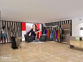 女服装店室内3D装修效果图