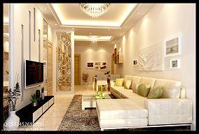 美式田园风格客厅沙发背景墙效果图欣赏