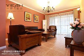 热门面积80平小户型客厅美式装饰图片欣赏