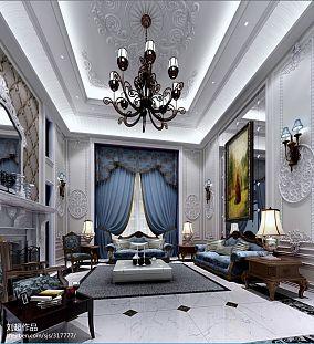 精美140平方混搭别墅客厅欣赏图