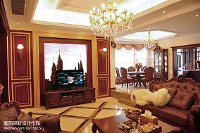 精美复式客厅美式效果图片