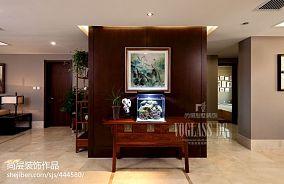 中式风格家庭储物柜隔断墙效果图欣赏