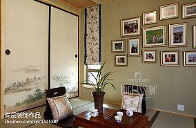 中式风格榻榻米照片墙效果图