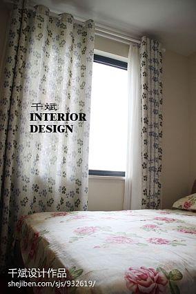 热门面积95平混搭三居卧室效果图片大全