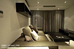 现代简约风格客厅装修窗帘效果图