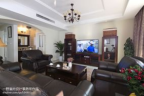 热门143平米混搭别墅客厅装修实景图片