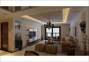 热门86平米混搭小户型客厅效果图