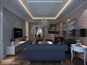 美式风格家居客厅家具摆放效果图