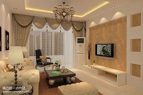 现代欧式风格室内窗帘图片