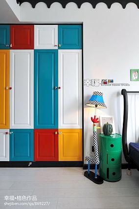 女巫的七彩心情地中海儿童房彩色衣柜装修设计效果图