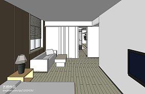 轻奢105平米三居室图片