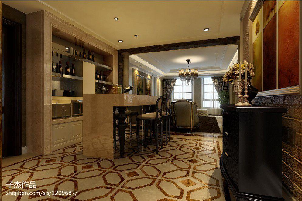 四居室欧式新古典吧台装修图