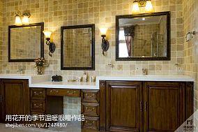 热门面积119平别墅厨房田园装修设计效果图