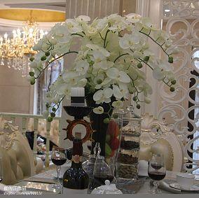 热门面积111平别墅餐厅欧式装修图片大全