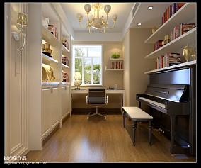 美式风格书房书柜装修效果图大全