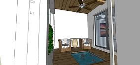 客厅阳台隔断效果图 豪华打造的120平后现代装修风格阳台图片