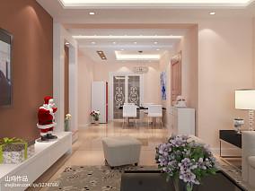 现代美式两室两厅客厅装修图