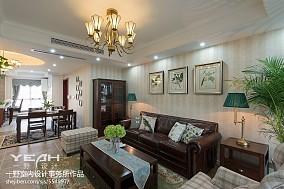 精选101平米三居客厅美式装修效果图片欣赏