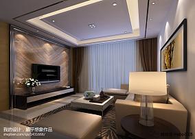 现代简约两室一厅客厅装修