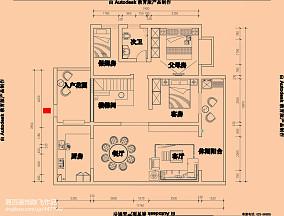 别墅液晶电视墙效果图