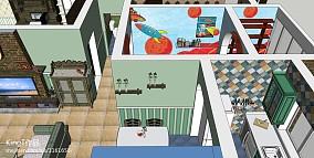 大气50平米两房一厅图片