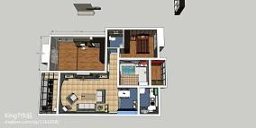 简约50平米两房一厅图片