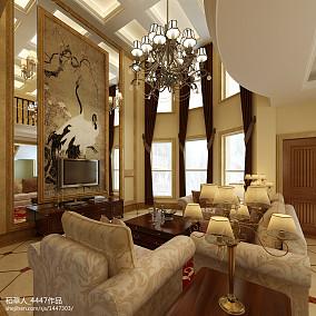 精选面积144平别墅客厅欧式欣赏图片