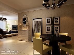 美式风格内部设计餐厅效果图