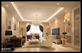 精美欧式客厅实景图片