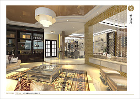 简欧风格别墅室内客厅装饰设计图片