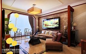 热门面积72平中式二居客厅实景图片大全