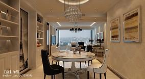 精选116平米四居餐厅新古典装修设计效果图片大全