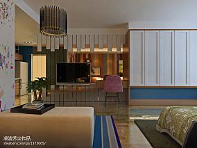 热门80平米混搭小户型客厅效果图片