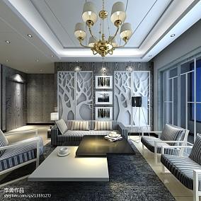 热门100平米三居客厅现代装修实景图