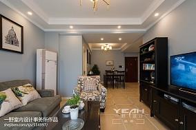精美面积71平美式二居客厅装饰图片大全