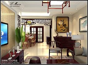 热门135平米中式复式客厅实景图片大全