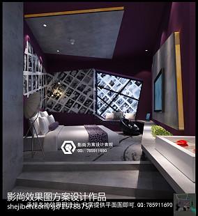 现代风格二居客厅装修效果图片