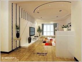 2018精选129平方四居客厅现代装修设计效果图片