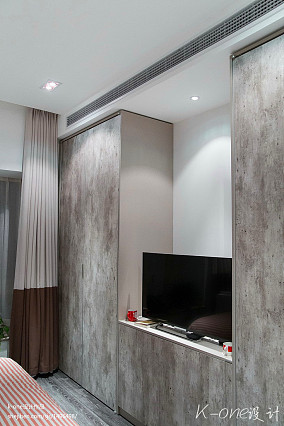 质朴56平现代复式卧室设计效果图