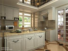 热门四居厨房欧式装修实景图片欣赏