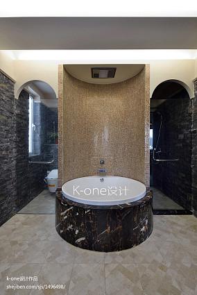 精美面积141平复式卫生间混搭装修设计效果图片大全