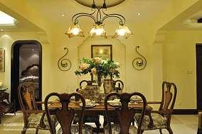 精选面积127平美式四居餐厅欣赏图片