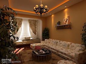 美式7平米客厅窗帘