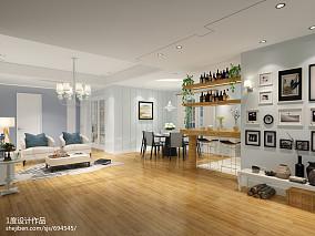 热门120平方四居客厅混搭装修实景图