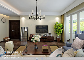 精美93平方三居客厅美式设计效果图