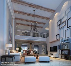 精选面积131平复式客厅欧式设计效果图