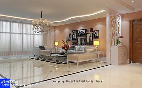 热门现代四居客厅装修设计效果图片大全
