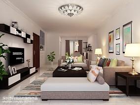 94平客厅三居现代装修设计效果图片大全