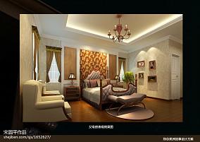 142平米欧式别墅卧室效果图片
