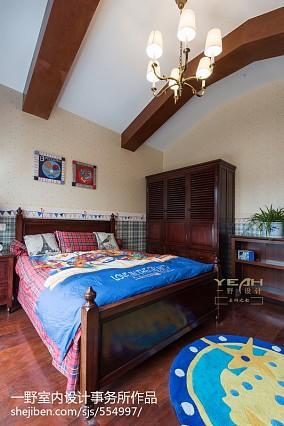 精选面积112平别墅儿童房美式装饰图片欣赏